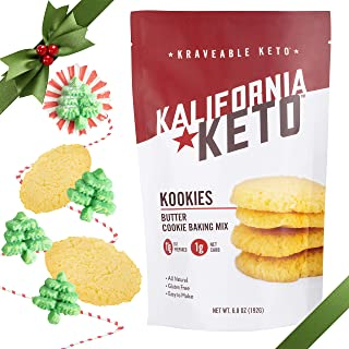 Keto Cookie Baking Mix by Kalifornia Keto, Butter Cookie, 1 Net Carb Per Cookie, 11 grams healthy fat, sugar free, gluten ...