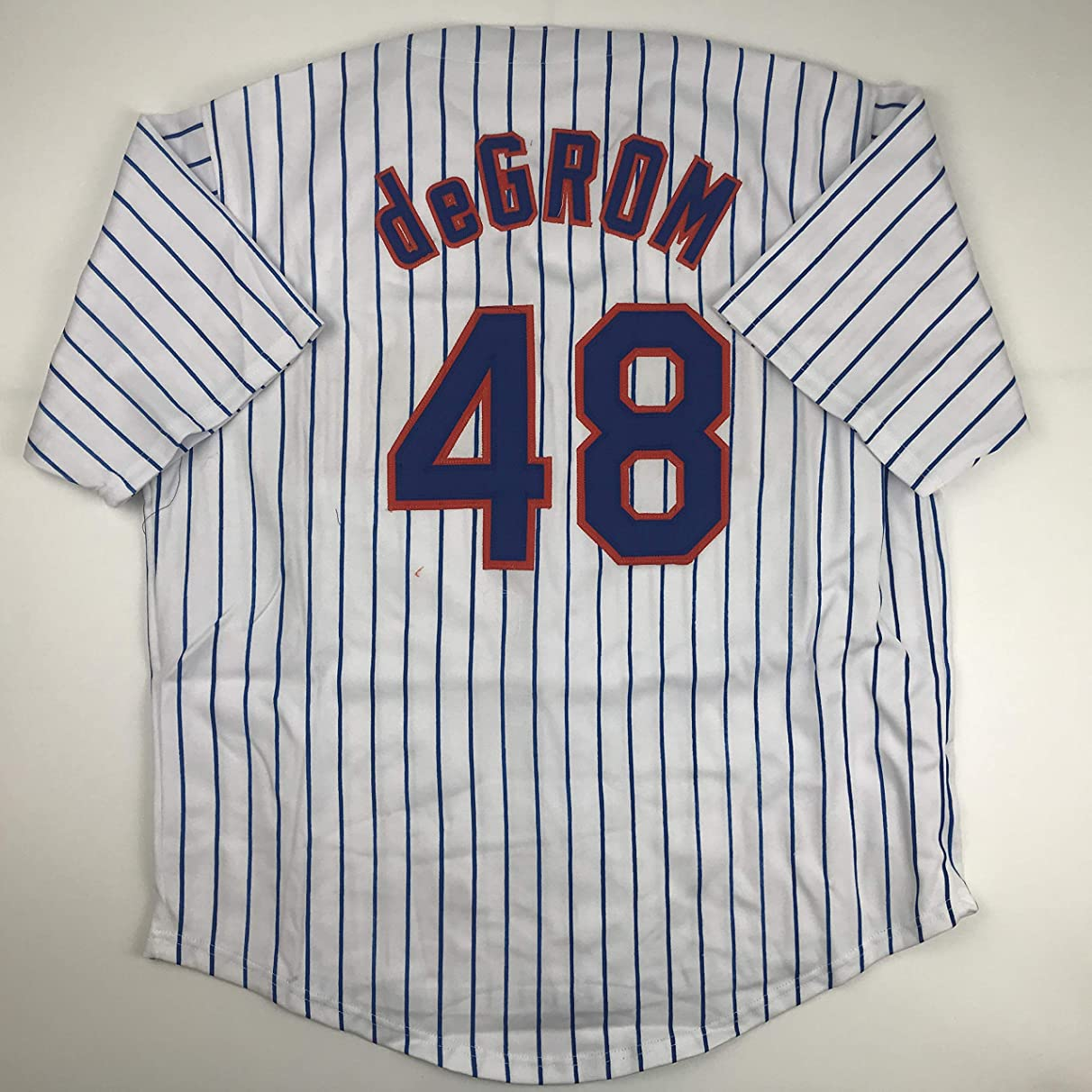 Unsigned Jacob DeGrom New York Pinstripe Custom Stitched Baseball Jersey Size Men's XL New No Brands/Logos