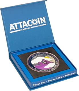 AttaCoin Large Going Above and Beyond Coin + Display Box, Thank You Gift Series