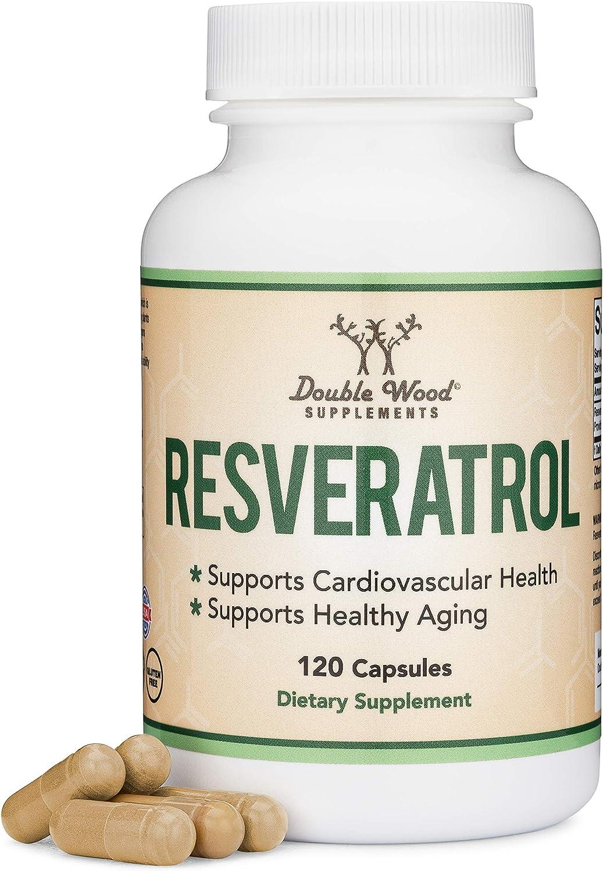 Resveratrol Ranking TOP8 500mg Per Ranking TOP2 Serving Natural Capsules 120