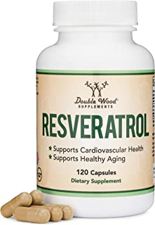 Resveratrol 500mg Per Serving, 120 Capsules (Natural Resveratrol Polygonum Root Extract Providing 50% Trans-Resveratrol) A...