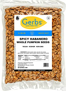 Sponsored Ad - GERBS Spicy Habanero Whole Pumpkin Seeds, 32 ounce Bag, Roasted, Top 14 Food Allergy Free, Non GMO, Vegan, ...