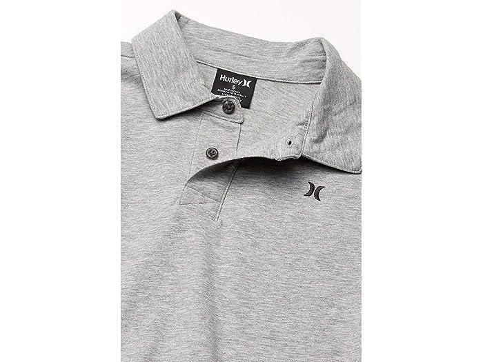 Hurley Dri-fit Harvey Polo De Short Sleeve Sólido Dark Grey Heher Shirts & Tops