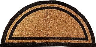 Kempf Half Round Black Border Coco Doormat, Heavy Duty Doormat, Double Door Entrances, 36 x 72-inch