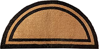 Kempf Half Round Black Borderer Coco Mat in Two Sizes (36