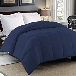 Cosy House Collection Premium Down Alternative Comforter - Navy Blue - All Season Hypoallergenic Bedding - Lightweight and...