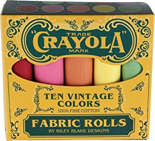 Confetti Cottons Vintage Crayola Box 10 Fat Quarters Riley Blake Designs FQB-VCR120-10