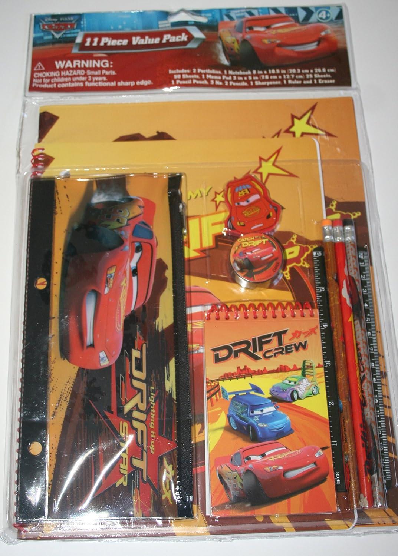 Disney Cars 11 Piece Stationary Set
