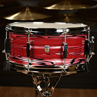 Ludwig 6.5x14 Club Date Snare Drum Ruby Strata