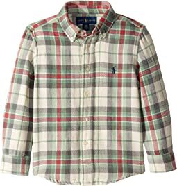 Plaid Cotton Twill Shirt (Toddler)