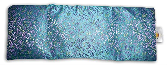 Savasana Now Extra Large Eye Pillow: Lavender & Flax Seed Filled, with Carry Pouch. Doubles as a Luxurious Heat/Cooling Sack