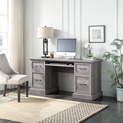"discount BELLEZE Rhudi 62"" Executive Desk, sale Grey sale Wash outlet online sale"
