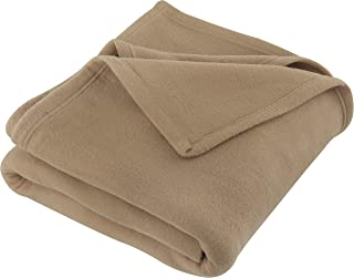 JMR Beige Soft Warm Twin Size Fleece Blanket Throw Microfiber Plush Blanket for Home Couch, Bed, Camping, Traveling (66x90, Twin) (90 x 90, Beige)