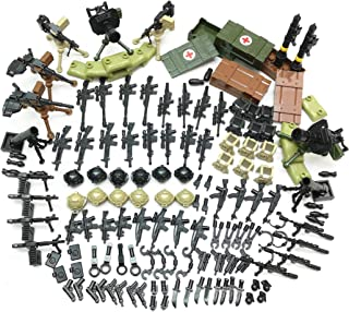 ZHX Weapon Pack Military Weapon Accessories Army Guns Simulate Battle Building Blocks Brick Toys for Kids