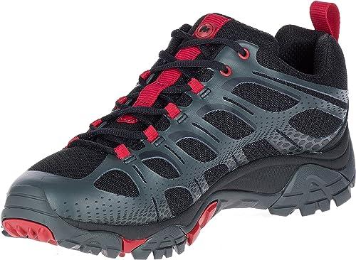 Merrell Men's Moab Edge Hiking chaussures noir rouge 8 D(M) US