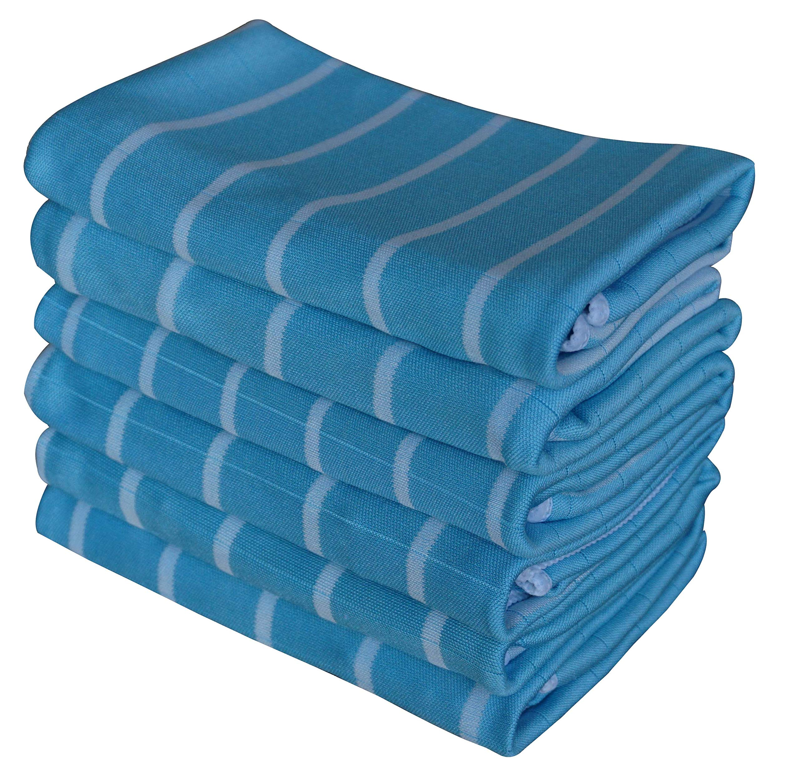 Gryeer Microfibre And Bamboo Kitchen Tea Towels Super Absorbent Lint Free Dish Glass Cloth Cleaning Cloths For Screen Window Mirror 65x45cm Set Of 6 Blue Buy Online In Antigua And Barbuda At Antigua Desertcart Com