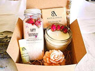 Happy Birthday Gift Baskets, Birthday Gifts for Her, Relaxing Spa Gift, Essential Oil Aromatherapy Gift Box