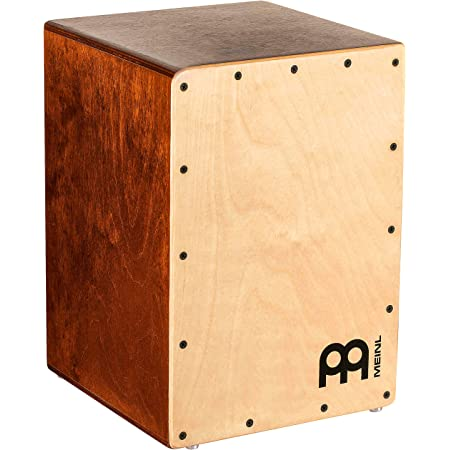 Meinl Percussion Cajon Box Drum with Internal Snares and Bass Tone for Acoustic Music — Made in Europe — Baltic Birch Wood, Play with Your Hands, Compact Size, 2-Year Warranty, JC50LBNT