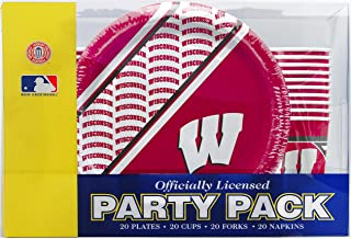 NCAA Wisconsin Badgers Disposable Party Pack (Plates, Cups, Forks, Napkins)