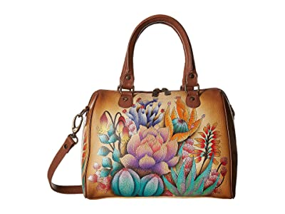 Anuschka Handbags 625 Zip Around Classic Satchel (Desert Sunset) Handbags