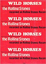WILD HORSES - Recorded by The Rolling Stones (Sheet Music) Piano Vocal Guitar 1970