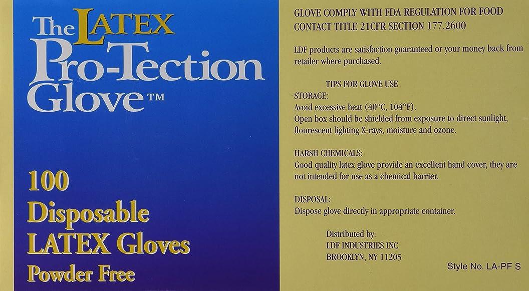 テクスチャー僕の締める(1 Box) - Disposable Latex Gloves, Powder Free, Size: Small, 100 Count