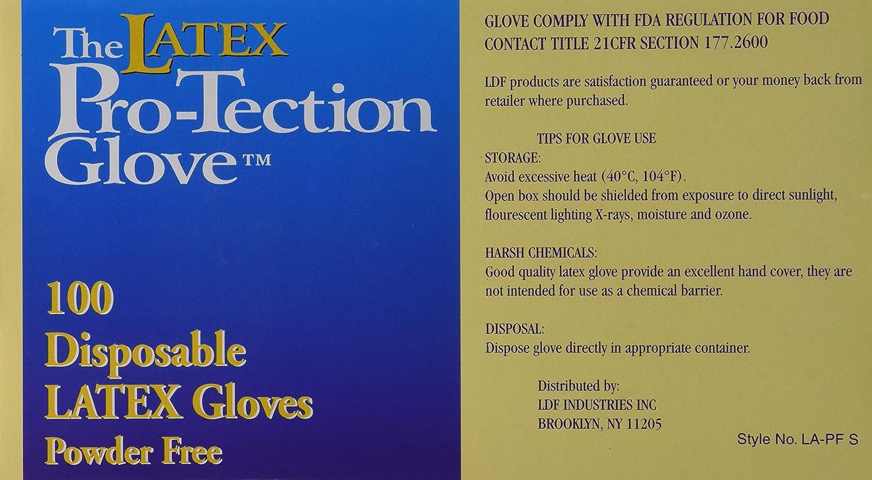 はぁふざけた成長(1 Box) - Disposable Latex Gloves, Powder Free, Size: Small, 100 Count
