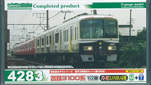 Meitetsu Series 3100 1st Edition Pato-Den Konoha Keibu Go - Standard Two Car Formation Set (w Motor) (Basic 2-Car Set) (Model Train) (japan import)