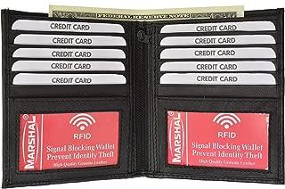 RFID Blocking 2 ID Bifold Hipster Credit Card Wallet Premium Lambskin Leather