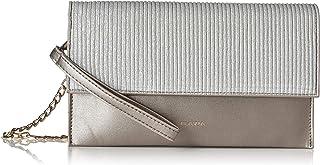 Flavia Women's Clutch (Silver)