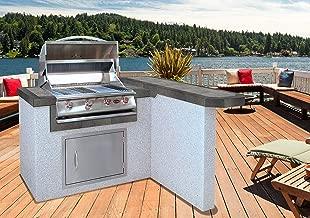Cal Flame LBK-401R-A-Z Master Chef 401RA Outdoor BBQ Kitchen Island, Earth Tone