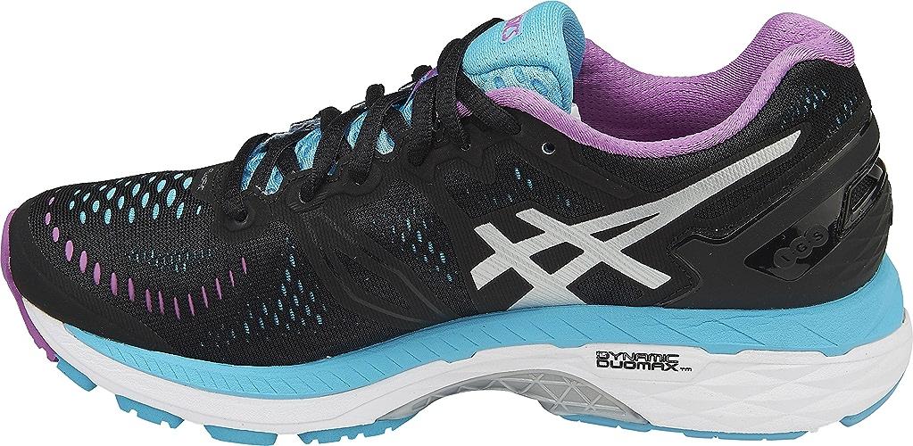 ASICS femmes Gel-Kayano 23 Running chaussures, Onyx argent Aquarium, 7 B(M) US