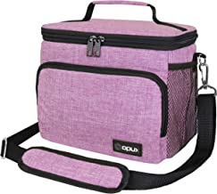 OPUX Insulated Lunch Bag for Women   Leakproof Lunch Box Cooler Tote for Adults Office Work with Shoulder Strap Pockets, M...