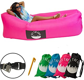 Off the Grid Inflatable Lounger - Air Sofa Wind Chair Hammock - Floating/Portable Bed