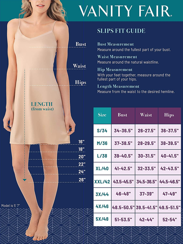 Vanity Fair Women's Rosette Lace Trim V-Neck Full Slip (10103)
