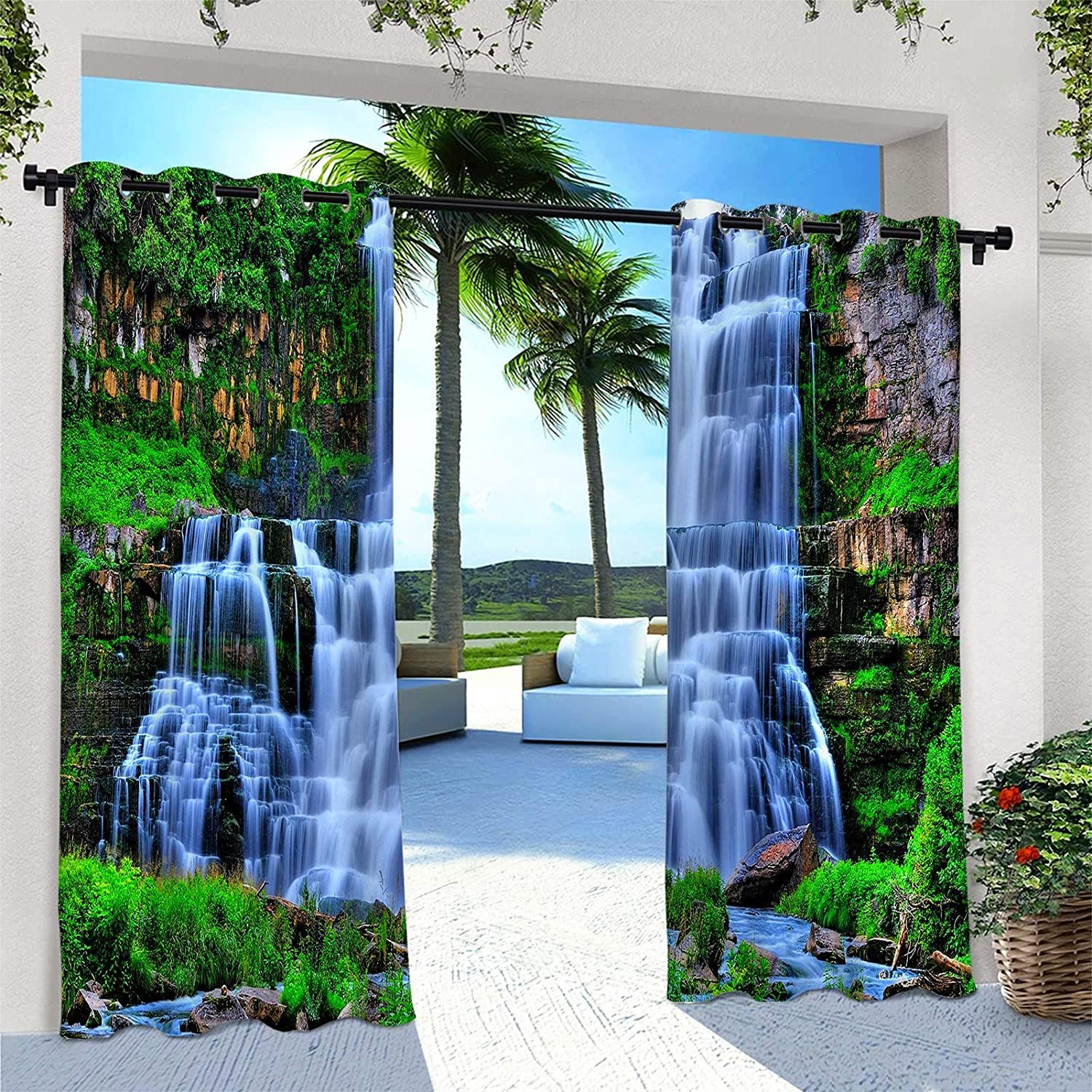 ANHOPE Outdoor Curtains Waterproof Groment Animer and price Cheap SALE Start revision Curtain Window Panel