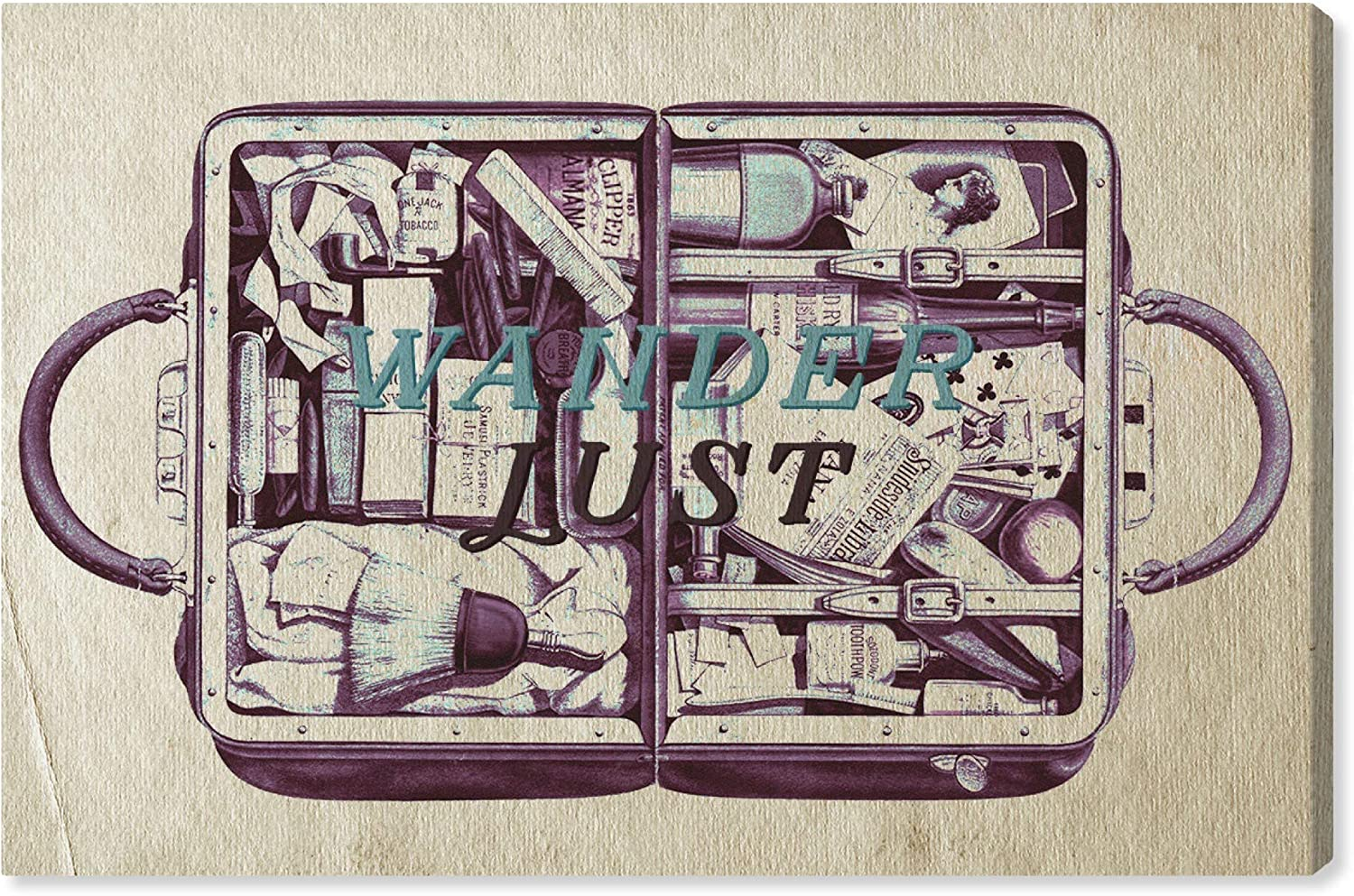 Special price Hatcher and Ethan Typography Wall Tr Great interest Prints 'Luggage' Canvas Art