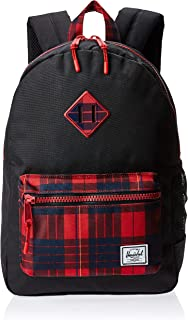 Herschel Kids' Heritage Youth Backpack, Black/Winter Plaid, One Size