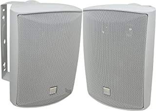 Dual Electronics LU53PW 5 ¼ inch 3-Way High Performance Indoor, Outdoor & Bookshelf Studio Monitor Speakers with Swivel Br...