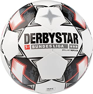 Derbystar Bundesliga Replica Match Soccer Ball, Size 5, White
