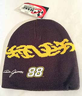 af100d91c86 Nascar   88 Dale Jarrett Knit Beanie Brown with Tribal Yellow Pattern Hat