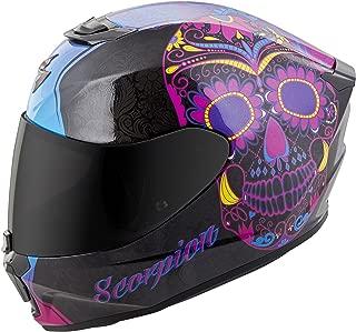 Scorpion Unisex-Adult Full-face-Helmet-Style Sugarskull (Black/Pink, Medium)