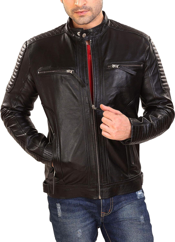 Men's Genuine Lambskin Leather Classic Jacket ( XS - 4XL )