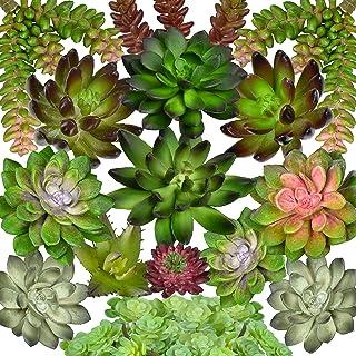Seeko Artificial Succulents - 15 Pack- Premium Succulent Plants Artificial - Realistic Faux Succulents - Unpotted Textured...