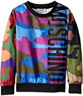 Moschino Kids - Long Sleeve Camouflage Logo Sweat Top (Little Kids/Big Kids)