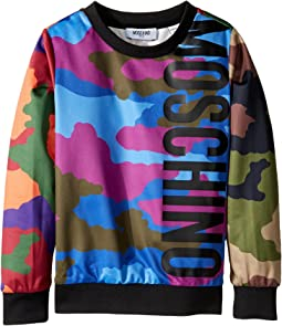 Long Sleeve Camouflage Logo Sweat Top (Little Kids/Big Kids)