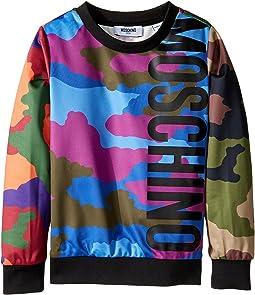 Moschino Kids - Long Sleeve Camouflage Logo Sweat Top (Little Kids/Big Kids)
