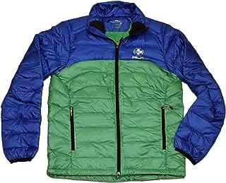 Ralph Lauren Polo RLX Men Light Zip Down Quilted Puffer Jacket Blue Green Medium