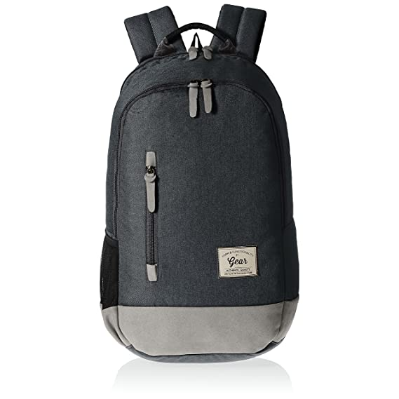 Gear Classic 24 ltrs Charcoal Grey and Grey Casual Backpack (BKPCAMPS83804)
