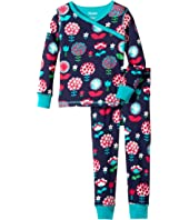Hatley Kids - Harvest Floral Wrap Over PJ Set (Toddler/Little Kids/Big Kids)
